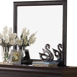 Standard Furniture - Standard Furniture Lewiston Black Rectangular Mirror in Black - Quality veneers over wood products and select solids used throughout. Group may contain some plastic parts.