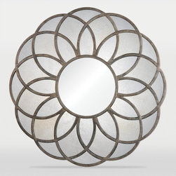 Ren-Wil - Ren-Wil Flora Round Wall Mirror - 40 diam. in. Multicolor - MT1392 - Shop for Mirrors from Hayneedle.com! With its geometric floral pattern the Ren-Wil Flora Round Wall Mirror - 40 diam. in. is sure to complement a wide variety of spaces. This round mirror is made from engineered wood and metal with an antique gold leaf finish. Its round center mirror features a contemporary flat edge. Includes hanging hardware.About Ren-WilFor over 45 years Ren-Wil has been creating quality wall decor mirrors and lighting that enhances any space. The company's talented team of in-house artists travels the world to find the newest materials fashions and trends and then applies them to their work. The team also uses multi-media designs for many of their pieces. Ren-Wil is the leader in Alternative Wall Decor and is the market leader in Canada. They thrive on offering a fresh innovative product line and superior customer service.