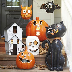 Halloween Luminary - These are fun, long lasting and timeless Halloween decorations for outside or in.