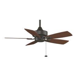 Fanimation - FP8042OB Cancun 5 Blade Ceiling Fan, Oil-Rubbed Bronze - Tropical Ceiling Fan in Oil-Rubbed Bronze from the Cancun Collection by Fanimation.