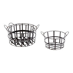 Cyan Design - Barn Baskets - Barn baskets - raw steel