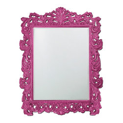 Howard Elliott - Howard Elliott Napoleon Glossy Hot Pink Mirror - Napoleon glossy hot pink mirror