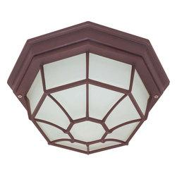 "Nuvo Lighting - Nuvo Lighting 60-579 1-Light CFL 12"" Ceiling Spider Cage Fixture - Nuvo Lighting 60-579 1-Light CFL 12"" Ceiling Spider Cage Fixture (1) 18W GU24 Lamp Included"