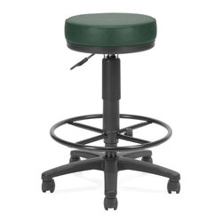 """OFM - OFM Utility Stool with Drafting Kit in Teal Vinyl - OFM - Drafting Chairs - 902VAMDK602 - Get the support you need with the easy-to-clean UtiliStool with Drafting Kit Model 902-VAM-DK from OFM. Features: a plush 3"""" thick padded seat for comfort. Users can easily find the right seat position using the gas lift seat height adjustment. Make sure you get the look you want with stylish anti-microbial/anti-bacterial vinyl upholstery or choose from the Elements In-Stock Textile Upgrade Program. Everything's stable on the 23"""" steel 5-star base with included drafting kit. Comes with hard floor casters carpet casters and glides are also available. Meets or exceeds ANSI/BIFMA standards. Weight capacity 250 lbs."""