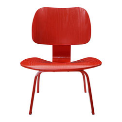 "IFN Modern - Eames Style LCW Plywood Chair, Red - This item is not an original Charles & Ray Eames product, nor is it manufactured by or affiliated with Herman Miller.                                                                                                                                         Overall Dimensions: 27.2"" H x 21.6"" W x 22.4"" D"