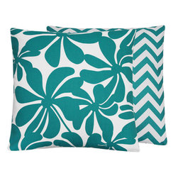 Turquoise Twirlies Throw Pillows l Chloe and Olive - Chloe & Olive