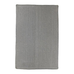 Homespice - Homespice Dove Braided Rectangle Rug - A dark taupe/grey, this is the ideal way to add a neutral base to your room. There is no need to compromise beauty for durability. Our Ultra Durable indoor/outdoor rugs are amazing. They resist stains from food, pets, and liquids, while adding color, texture and interest to all your living spaces. This amazing absorbent material leaves the surface below dry with most moderate spills. To clean, simply run under water in your sink or use a hose. These Ultra Durables are thinner and flatter and feature a vertical braid with anti-skid backing. Perfect for kitchens, baths, and entry ways.