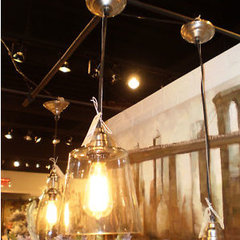 "eclectic pendant lighting WAREHOUSE VINTAGE CHIC 10"" RECYLED GLASS PENDANT LIGHT"