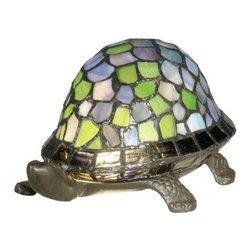 Dale Tiffany - Dale Tiffany 7908/816A Blue Turtle Accent Lamp from the Accent Collection - Blue Turtle Accent Lamp from the Accent CollectionFeatures: