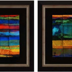 Paragon Decor - Chromatic I Set of 2 Artwork - Exclusive Embellished Giclee Mixed Media - Mounted on Board