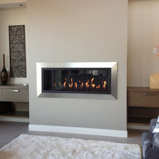 Modern Fireplaces by Okanagan Fireplace Den Ltd.