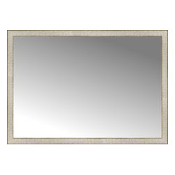 """Posters 2 Prints, LLC - 48"""" x 34"""" Libretto Antique Silver Custom Framed Mirror - 48"""" x 34"""" Custom Framed Mirror made by Posters 2 Prints. Standard glass with unrivaled selection of crafted mirror frames.  Protected with category II safety backing to keep glass fragments together should the mirror be accidentally broken.  Safe arrival guaranteed.  Made in the United States of America"""