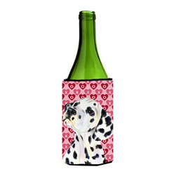 Caroline's Treasures - Dalmatian Hearts Love and Valentine's Day Portrait Wine Bottle Koozie Hugger - Dalmatian Hearts Love and Valentine's Day Portrait Wine Bottle Koozie Hugger SS4492LITERK Fits 750 ml. wine or other beverage bottles. Fits 24 oz. cans or pint bottles. Great collapsible koozie for large cans of beer, Energy Drinks or large Iced Tea beverages. Great to keep track of your beverage and add a bit of flair to a gathering. Wash the hugger in your washing machine. Design will not come off.