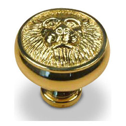 Century Hardware - Solid Brass - Knob - Polished Brass (CENT19306-3) - Solid Brass - Knob - Polished Brass (CENT19306-3)