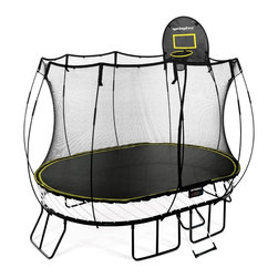 Springfree Trampoline - Springfree® 8x11ft Trampoline - O77 Medium Oval With FlexrHoop & FlexrStep - * World's safest trampoline