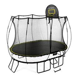 Springfree Trampoline - Springfree® 8x11ft Trampoline - O77 Medium Oval With FlexrHoop & FlexrStep - * World's safest trampoline