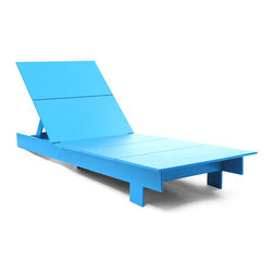Loll Designs - Lollygagger Chaise, Sky Blue - The Lollygagger Chaise is an important part of our Lollygagger family collection as it truly is intended for extended relaxing; even napping. The lighter weight of the piece makes it easy to swing around with the direct rays of the sun. The back adjusts to six different angles so when you need a break from the action the Lollygagger Chaise accommodates your mood swings without asking questions. The Lollygagger Chaise pairs well with the Lollygagger Ottoman (Side Table) to hold your favorite beverage and other sun bathing related accessories.