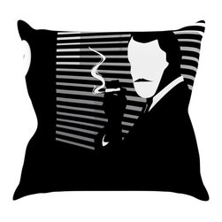 "Kess InHouse - Kevin Manley ""Vincent"" Black White Throw Pillow (16"" x 16"") - Rest among the art you love. Transform your hang out room into a hip gallery, that's also comfortable. With this pillow you can create an environment that reflects your unique style. It's amazing what a throw pillow can do to complete a room. (Kess InHouse is not responsible for pillow fighting that may occur as the result of creative stimulation)."