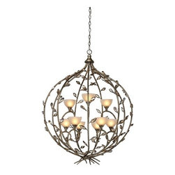 Artcraft Lighting - Artcraft Lighting AC1519 Bronzed Gold Chandelier from the Louvre Collection - The Louvre Collection features a multi tone bronzed gold finish, with amber glassware, and teack crystal leafs throughout. A Classic. Large Chandelier shown.  Features: