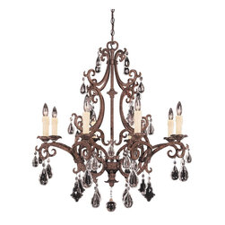 Federico Martinez - Federico Martinez L'Art du Luminaire Traditional 8-Light Chandelier X-65-8-1041- - The alluring contours of the infamous frame of Savoy House Lighting L'Art du Luminaire Traditional chandelier display an outstanding look with new tortoise shell finish. The delicate scroll work adds to the old world elegance of the chandelier. The chandelier produces warm illumination to the room for a homely ambiance.