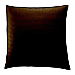 """THE EURO SHAM, FROM THE CAFÉ CINNAMON - Fashioned from Cocoa on each side with a 1/2"""" self-flange and finished with a clean edge. Sold flat (without fills) by default. (26""""x26"""")"""