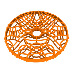 Matt Grote - 3D Printed Wacky Wire Coaster, Orange - Wackify your home with this diverse wire disc coaster. Swirling and sleek and sure to start conversations. A fun way to decorate your home while keeping your furniture protected. A modern twist on the ever-handy coaster.