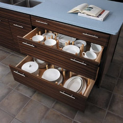 Getting Organized with Fieldstone Cabinetry - Dish storage drawers