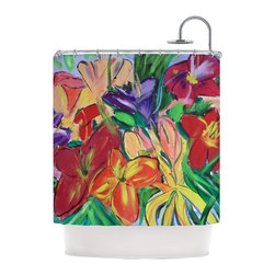 "Kess InHouse - Cathy Rodgers ""Matisse Styled Lillies"" Rainbow Flower Shower Curtain - Finally waterproof artwork for the bathroom, otherwise known as our limited edition Kess InHouse shower curtain. This shower curtain is so artistic and inventive, you'd better get used to dropping the soap. We're so lucky to have so many wonderful artists that you'll probably want to order more than one and switch them every season. You're sure to impress your guests with your bathroom gallery in addition to your loveable shower singing."