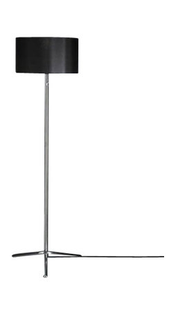"""Tecnolumen - Tecnolumen Baton CSL 08 SW Floor Lamp - The Baton CSL 08 SW Floor Lamp is designed by Chris Slutter and made by Tecnolumen. The floor lamp Baton CSL 08 SW was designed by Chris Slutter for Tecnolumen in 2008. The lamp is characterized by a kipparen screen. This offers the possibility to make the light distribution individually. The screen is most of the light from above and below. To the sides little light shines through the screen, which should rather serve an optical purpose. The floor lamp Baton CSL 08 SW of Tecnolumen is a beautiful source for the creation of additional light in the living area. The possibility of kipparen screen, this floor lamp is also suitable as a reading lamp next to the sofa or chair.Floor lamp made of stainless steel and with a tilting fabric shade.         Product Details: The Baton CSL 08 SW Floor Lamp is designed by Chris Slutter and made by Tecnolumen. The floor lamp Baton CSL 08 SW was designed by Chris Slutter for Tecnolumen in 2008. The lamp is characterized by a kipparen screen. This offers the possibility to make the light distribution individually. The screen is most of the light from above and below. To the sides little light shines through the screen, which should rather serve an optical purpose. The floor lamp Baton CSL 08 SW of Tecnolumen is a beautiful source for the creation of additional light in the living area. The possibility of kipparen screen, this floor lamp is also suitable as a reading lamp next to the sofa or chair.Floor lamp made of stainless steel and with a tilting fabric shade. Details:                         Manufacturer:            Tecnolumen                            Designer:            Chris Slutter                            Made in:            Germany                            Dimensions:                        Shade:Diameter: 18.5"""" (47 cm) x Height:10.63"""" (27 cm) , Overall Height:66.54"""" (169 cm)                                         Light bulb:                        1 x E27 Max 75W """