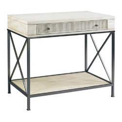 Hickory White - Hickory White Isabel Box-on-Stand 243-24 - One drawer with reeded face. Black nickel finish metal base and hardware.