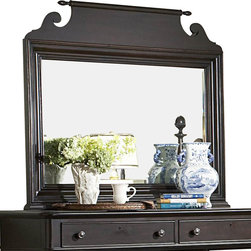 Homelegance - Homelegance Jackson Park Rectangular Mirror in Cherry - The Jackson Park collection exemplifies the best of American traditional style. Soft lines and distinctive turnings in a dark cherry rub through finish are featured elements of this collection . The sliding door chest provides drawer storage, pull-out clothing rods on both sides of the piece plus the sliding door reveals shelf storage and wire management cutouts for television components. Further adding to the appeal of this group is the functionality of full extension drawers in all case pieces and a pull out tray in the night stand. Jackson Park, casual tradition with modern functionality.