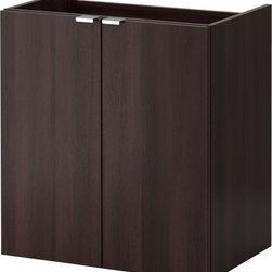 IKEA of Sweden - LILLÅNGEN Sink cabinet with 2 doors - Sink cabinet with 2 doors, black-brown