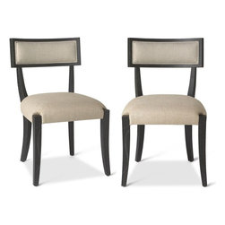 Brownstone Furniture Atherton Onyx Dining Chair - The Atherton onyx is a perfect blend of streamlined design made with rich, exquisite wood. Finished in a deep, cerused onyx this collection embodies a natural, yet subtle refinement, that is striking in any dining setting.