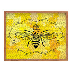 DENY Designs - Lisa Argyropoulos Queen Bee Rectangular Tray - With DENY'S multifunctional rectangular tray collection, you can use it for decoration in just about any room of the house or go the traditional route to serve cocktails. Either way, you'll be the ever so stylish hostess with the mostess!