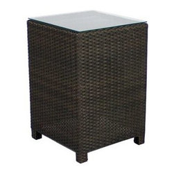 Source Outdoor Furniture - Source Outdoor Furniture King 18 Square Small Cube End Table - Since 2009 Source Outdoor has been committed to offering customers the finest in contemporary seating dining and lounging furniture for residential commercial and hospitality spaces. Source Outdoor Furniture company has rapidly expanded as they worked with retailers interior designers individual buyers and owners or operators of restaurants and hotels to design and build pieces tailored to fit any outdoor patio space. Source Outdoor are committed to anticipating voids trends and opportunities in the marketplace as they believe creativity and quality are the cornerstones of our success. In fact over half Source Outdoor Furniture products are currently manufactured in Miami by in-house skilled seamstresses and craftsmen. Not only are these products proudly made in America but Source Outdoor also have an advantage with increased year-round inventory and faster turnaround.