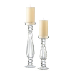 Cyan Design - Cyan Design Lighting 01262 Large Clear Glass Candleholder - Cyan Design 01262 Large Clear Glass Candleholder