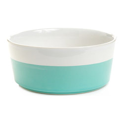 Waggo - Ceramic Dog Bowls, Mint, Medium - Splash into Summer with our Dipper Bowl colors! These hand-dipped ceramic dog bowls add the perfect amount of color to your home.