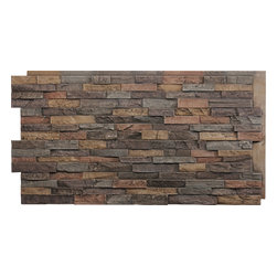 FauxPanels.com - Dry Stack Faux Stone Panels, Earth - Dry Stack Faux Stone Panels are a perfect way to add warmth and style to your home, both indoors and out.