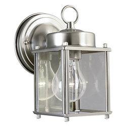 Progress Lighting - Progress Lighting P5607-09 Flat Glass Lantern Single Light Small Outdoor Wall - Features: