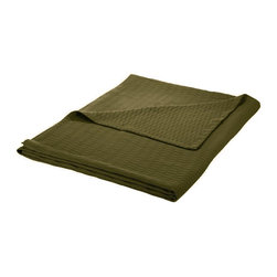 Cotton Blanket (Diamond) Full/Queen 88 x 90 - Forest Green - Wrap yourself in pure comfort with this all season 100% cotton blanket. This blanket is ideal for year-round use and comes in a variety of colors. The blanket features a marvelous diamond pattern and has a self-binding hem for increased durability. Dimensions: Blanket 88x90.