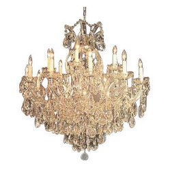 "Maria Theresa Chandelier Crystal Lighting Chandeliers H38"" X W37"""