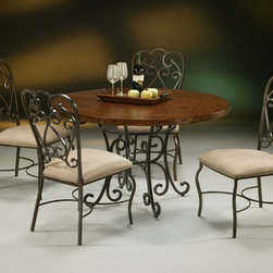 Pastel Furniture - Magnolia 5 Piece Dining Table Set in Autumn Rust - VD510-809- - Set includes Dining Table and 4 Chairs