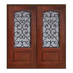 """Prehung Double Door 80 Fiberglass Palermo 1 Panel Arch Lite GBG Glass - SKU#MCR062WP_DFAPG2BrandGlassCraftDoor TypeExteriorManufacturer CollectionArch Lite Entry DoorsDoor ModelPalermoDoor MaterialFiberglassWoodgrainVeneerPrice3140Door Size Options2(32"""")[5'-4""""]  $02(36"""")[6'-0""""]  $0Core TypeDoor StyleDoor Lite StyleArch LiteDoor Panel Style1 PanelHome Style MatchingDoor ConstructionPrehanging OptionsPrehungPrehung ConfigurationDouble DoorDoor Thickness (Inches)1.75Glass Thickness (Inches)Glass TypeDouble GlazedGlass CamingGlass FeaturesTempered glassGlass StyleGlass TextureGlass ObscurityDoor FeaturesDoor ApprovalsTCEQ , Wind-load Rated , AMD , NFRC-IG , IRC , NFRC-Safety GlassDoor FinishesDoor AccessoriesWeight (lbs)603Crating Size25"""" (w)x 108"""" (l)x 52"""" (h)Lead TimeSlab Doors: 7 Business DaysPrehung:14 Business DaysPrefinished, PreHung:21 Business DaysWarrantyFive (5) years limited warranty for the Fiberglass FinishThree (3) years limited warranty for MasterGrain Door Panel"""