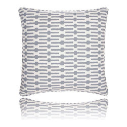 Pine Cone Hill - links tin pillow (26x26) - Exciting horizontal stripes make this pillow a fun and modern accent. Includes zipper cosure and feather insert.��This item comes in��blue.��This item size is��26w 26h.