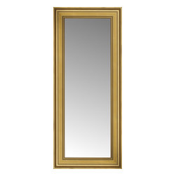 """Posters 2 Prints, LLC - 18"""" x 37"""" Arqadia Gold Traditional Custom Framed Mirror - 18"""" x 37"""" Custom Framed Mirror made by Posters 2 Prints. Standard glass with unrivaled selection of crafted mirror frames.  Protected with category II safety backing to keep glass fragments together should the mirror be accidentally broken.  Safe arrival guaranteed.  Made in the United States of America"""