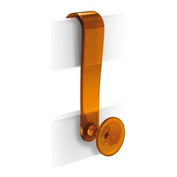 WS Bath Collections - Shower Basket in Orange - Modern/contemporary design. Designer robe hook. Warranty: One year. Made from ABS. Polished chrome finish. Made in Italy. No assembly required. 1.6 in. W x 2.4 in. D x 5.5 in. H (2 lbs.)Unique and fine bath accessories and complements, that provide inspirational solutions for every decor.