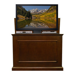 Touchstone Home Products - Elevate Espresso Finish TV Lift Cabinet, Elevate Espresso Finish TV Lift Cabinet - Touchstone's add-on component shelf is designed exclusively for use with the Whisper Lift II TV lift mechanism. It is the perfect solution for adding extra storage space to your Whisper Lift TV Lift, for your cable box, DVD player, game system and other components. Kit Includes:Component Shelf, Component Shelf Support Bracket, Component Shelf Brackets, 6 Small Nuts and Bolts, 2 Large Nuts and Bolts while including manuals and instructions.