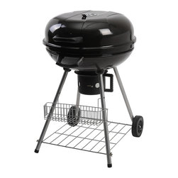 Ragalta - Ragalta 22.5-inch Stand Charcoal Grill - Make anywhere the perfect location for a cookout with this portable black charcoal grill. With its steel construction and porcelain enamel coating,this grill is built to last. Two all-weather wheels add easy maneuverability to this grill.