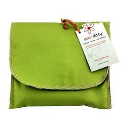 Eco Ditty Sandwich Bag - Spring Green - eco ditty is the perfect sandwich bag. Made from 100% organic cotton they are easily adjustable to handle all types of sandwiches.