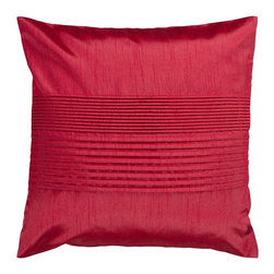 """Surya - Surya Tracks Decorative Pillow - Red Multicolor - HH025-1818D - Shop for Pillows from Hayneedle.com! About Surya RugsSince 1976 Surya has established itself as one of India's leading producers of fine hand-knotted hand-tufted and flat-woven rugs. Their products are sold in the U.S.A. at respected department and specialty stores. The company is known for its quality value dedication and innovation. This includes responsibility for the entire process - spinning dyeing weaving and finishing. Surya prides itself on using the best raw material available for the production of their rugs. They are proud members of """"Wools of New Zealand."""" From design concept through production a Surya family member is involved making sure that the highest standards are being met at each level. Surya works with top designers and constantly updates their designs and color palettes to match and set the trends in design and fashion for the home. Surya always means a fine choice in rugs."""